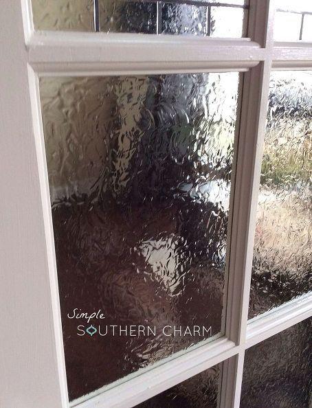 DIY Glasmalerei für die Privatsphäre von Türen und Fenstern