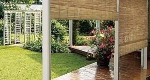 Dies ist eine coole Idee für eine Außenterrasse, eine Veranda oder ein Deck. Sie können sie aus Datenschutzgründen rollen