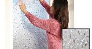 Einfach zu installierendes wiederverwendbares Fenster zum Schutz der Privatsphäre