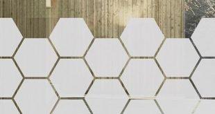 Honeycomb Window Film für Seitenlichter, Privacy Window Film, Privacy Glass Aufkleber, geometrische Fenster Dekor, Honeycomb Glastür Privacy Film