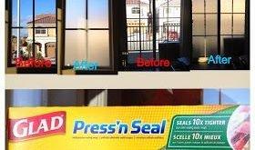 Machen Sie eine billige und einfache, vorübergehende, durchscheinende Sichtfensterabdeckung aus Press- und Siegelfolie.