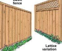 DIY Privacy Fence ... Ich kann sehen, wie die Pfosten / etc neu aufgebaut werden und das Gitter zu ...