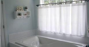 Ich habe ein Fenster in meinem Master-Bad. Diese Vorhänge sehen perfekt aus für Privatsphäre und Stil. (Töpferei)