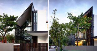 faber terrace von HYLA Architects verwendet eine Holzabdeckung, um Privatsphäre zu gewährleisten