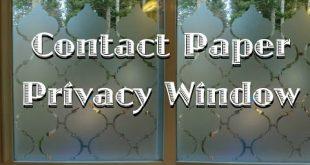 Fenster zum Schutz der Privatsphäre mit Kontaktpapier