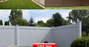 Terrasse Sichtschutzzaun: Vinyl solide Zunge und Nut Sichtschutzzaun mit ...