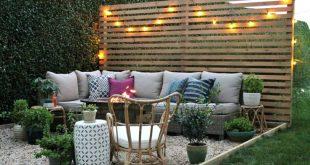 New Modern Rustic Outdoor Privacy Screen + Der Rest meiner Terrasse