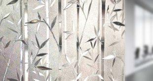 3D No Glue Statische dekorative Sichtschutzfolien Bambusmuster 23.6 In. Von 78,7 Zoll (60 x 200 cm)