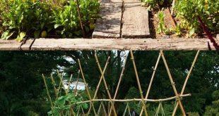 21 Einfache DIY-Gartengitter Ideen und vertikale Wachstumsstrukturen