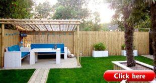 26 Bambuszaun Ideen für Garten, Terrasse oder Balkon