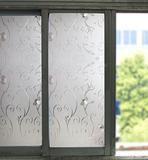 Bloss Etched Privacy Window Film Dekoratives selbstklebendes Glas Kontaktpapier Matt Static Cling Film 17.7 Zoll x 78.7 Zoll