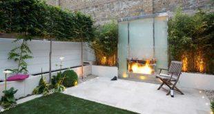 Gartenzaun Ideen Datenschutz Terrasse Design Kamin Bambuspflanzen