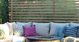 Moderner Holzlatten-Sichtschutz im Freien: Informationen zum Bauen