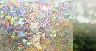 Premium No Glue 3d statische dekorative satinierte Sichtschutzfolien für Glas Upgrade-Version für Home Kitchen Office von Tayyakoushi, 45 x 200 cm