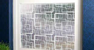 Retro Squares Blickschutzfolie