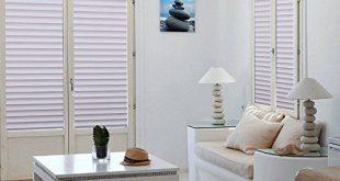 Selbstklebende Fensterfolie Privatsphäre Fensterfolie Statisch haftet Glasfolie für Fenster / Tür / Bad / Dusche / Wohnzimmer, Streifenmuster (17,7 x 78,7 Zoll)