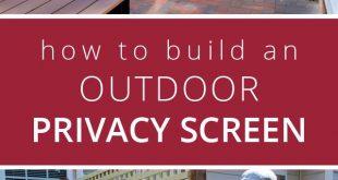 So erstellen Sie einen Bildschirm zum Schutz der Privatsphäre im Freien