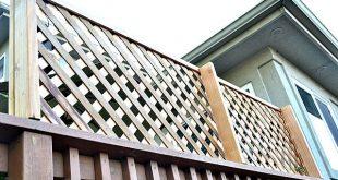 So fügen Sie einem Deck ~ Wood Lattice Screen Datenschutz hinzu!