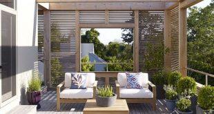 Terrasse in einer Hamptons Residenz, entworfen von Austin Patterson Disston Architects