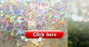 Premium No Glue 3d statische dekorative satinierte Sichtschutzfolien für Glas Upgrade-Version für Home Kitchen Office von Tayyakoushi, 45 x 200 cm (18 Zoll x 78,7 Zoll)