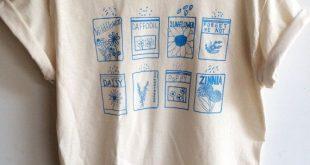 Garten Shirt, Graphic Tee, Flower Shirt, Kleidung Geschenk, Feinschmecker Geschenk, Garten Geschenk
