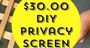 Wie erstelle ich einen Easy Patio Privacy Screen?