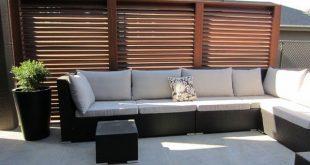 Außenräume: Patio-Sichtschutzwand zur Schaffung von Wohnräumen im Freien