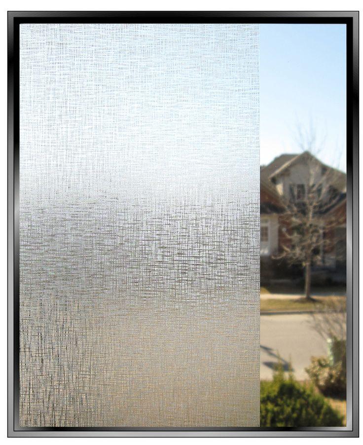 Badezimmer Fenster: Rohseide Textur Muster dekorative Fensterfolie Toronto Bild