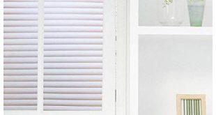 """Coavas Blinds Fensterfolie No Glue Statische Folie Nichtklebende Mattierte Sichtschutzfolie Fensteraufkleber Dekorative Sichtschutzfolie, 35,5 """"x 78,7"""""""
