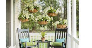 DIY ein Sichtschutz mit Hängepflanzen