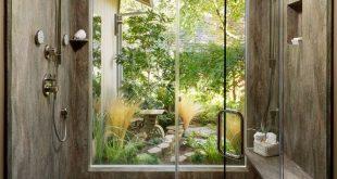 Ein schmaler Gartenabschnitt an der Seite eines Hauses könnte mit Bambus bepflanzt werden, um ...