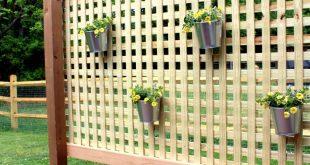 Holzterrasse Sichtschutz DIY