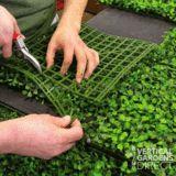 Künstliche Buchsbaumhecke 1m x 1m Pflanzenwandschutzplatte UV-stabilisiert