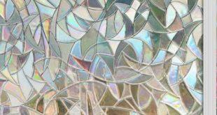 Neue Ansicht des Fensterfilms 3d bereifte statisch haftende Privatlebenfensterfolie des Buntglases