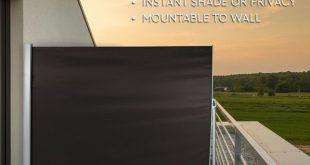 Retractable Side Markise Sichtschutz Schatten Terrasse Garten Terrasse Panel Adjustab