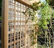 Schönes Gartengitter für das Klettern von Rosen oder von Reben