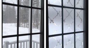 So erstellen Sie ein Sichtschutzfenster aus Kunstglas & # 39; Kontaktpapier verwenden!