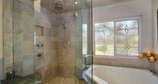 Wasserfallglas mit Eckwanne. Master Badezimmer Lichtdesign, Bilder, ...