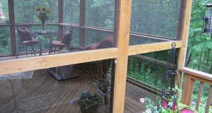 Wie in einer Veranda oder Deck Screen