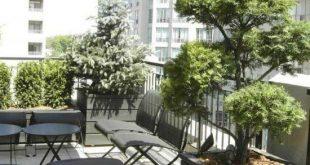 vertikale Balkon Gärten Ideen Dachterrasse Privatsphäre