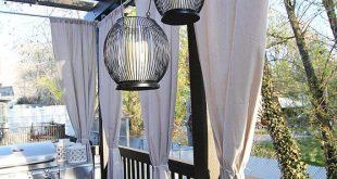 31 Stilvolle Ideen für Outdoor-Vorhänge, um Ihre Outdoor-Umgebung zu erfrischen