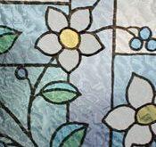 Buntglas-Blumen-Privatleben-Fenster-Film