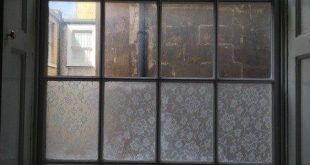 DIY Lace Privacy Fensterverkleidung