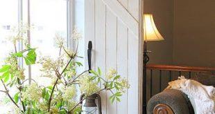 DIY alte Fensterläden für eine Fensterbehandlung