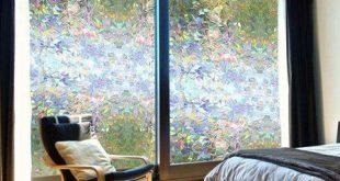 Dilwe 3D Privacy Fensterfolien Aufkleber Nicht klebende statisch haftende wiederverwendbare Glasfolie für zu Hause BÜRO, Fensterfolie Nicht klebende mattierte Privacy Fensterfolie Selbst statisch haftende Vinly Fensterfolie
