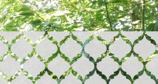 Marokkanische Fenster Privacy Film Quatrefoil Fenster Aufkleber anpassbare marokkanische Privacy Fenster Behandlung geätzte Glasfolie Mattglas Aufkleber