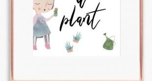 Nehmen Sie eine Pflanze, Pflanze Liebhaber Geschenk, verrückte Pflanze Lady Print, grünen Daumen Geschenk, Pflanze Mutter druckbare Kunst,