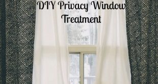 Simple Bedroom Privacy Window Treatment - 2019