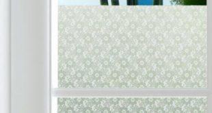Winston Porter Flowers Lace Sichtschutzfolie Größe: 120 x 120 cm, Farbe: Weiß, Anwendungsart: Selbstklebend