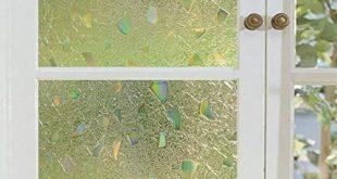Coavas Fensterfolie Selbstklebende, mattierte Sichtschutzfolie Selbstklebende Vinyl-Fensterfolie Geeignet für Heim und Büro (17,7 x 78,7 Zoll)